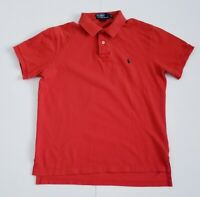 Polo By Ralph Lauren Men's Short Sleeve Polo Shirt Size Large Orange 100% Cotton