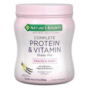 Natures Bounty Optimal Solutions Complete Protein&Vitamin Shake Mix Vanilla Bean