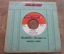 45 RPM  Claude Valade Silver Bells /  À Noël 57