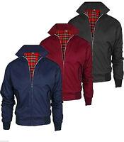 Mens Harrington Jacket Classic Retro Slim Fit Zipper Vintage Bomber MA1 Coat TOP