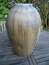 Imposant Vase en Grès Flammé Début XX ème Siècle 47 cm