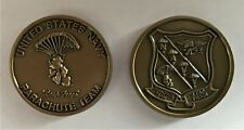 Navy SEAL Leap Frogs Parachute Team Challenge Coin Special Warfare Chuting Stars