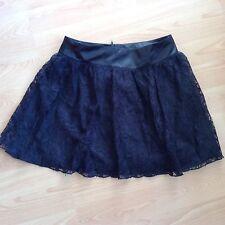 Topshop Lace & Silk Mini Skirt Size 10 Full Inside Lining