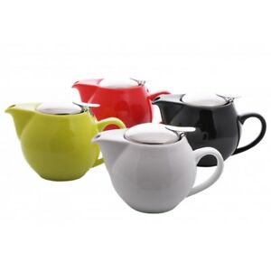 MODERN TEA POT AND INFUSER (0.5 LITRE) - 4 COLOURS STRAINER TEA KITCHEN COFFEE