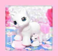 ❤️My Little Pony MLP Vtg G1 Style HQG1C Blank White TEENY WEENY Tiny Baby❤️