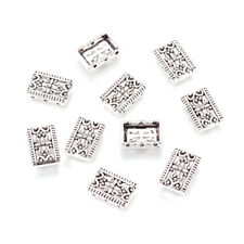 20pcs Tibetan Alloy Multi-Strand Connectors Filigree Rectangle 3-Hole Beads 17mm