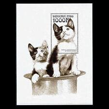 Burkina Faso, Sc #1143, MNH, 1999, S/S, Cats, animals, 6GDD
