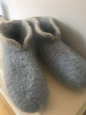 Hand Knitted Felted Scandinavian Style Hygge Boot Slippers Size  5