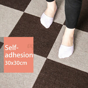 """11.8"""" Self-adhesive Carpet Floor Tiles Commercial Office Flooring Cover Ma"""