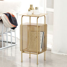 Modern Minimal Gold Metal Square Storage Holder Creative Sofa Bed Side Tables
