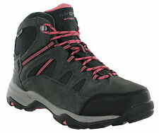 Hi-Tec Bandera II WP Women's Charcoal Waterproof Lace up Ankle Hiking BOOTS UK 8
