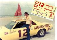 CD_1216 #12 Neil Bonnett 1976 Hawaiian Tropic Chevy Laguna  1:24 Scale DECALS
