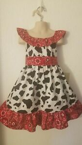 #24 Handmade Cowgirl, Rodeo, Country, Western dress up/Halloween costume 12m-8Y
