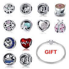 Bamoer Optional Weihnachten 925 Silber Charm Beads Dangle Fit Armband für Frauen