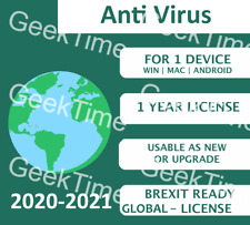 KASPERSKY ANTI-VIRUS 2021 ANY COUNTRY LICENSE ! +1 YEAR 1 PC MULTI-DEVICE