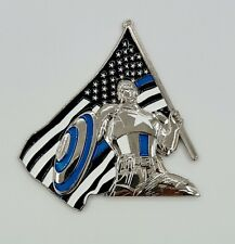 Captain America Thin Blue Line Blue Lives Matter Police Challenge Coin Serial#