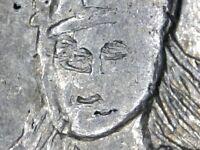 "1826 Peru CUZco 8 reales MINT ERROR - ""Third Eye"" silver Lima republic NGC AU"
