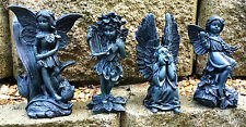Set of 4 Fairy & Angel Highly Detailed Garden Ornaments- Indoors or Out