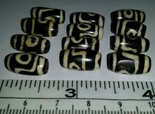 Bone Dzi Beads 12 Beads. 1/2 inch long. Made of Natural Bone. From the Himalayas