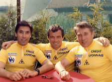 EDDY MERCKX, BERNARD HINAULT, JACQUES ANQUETIL TOUR DE FRANCE CELEBRATION POSTER