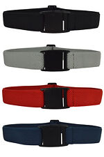 Mens / Womens Fully Adjustable Stretch Belt with Plastic Clip Buckle