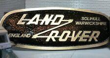 Land Rover Defender Messing Bronze Gitter Dose Heritage Vorderseite Emblem