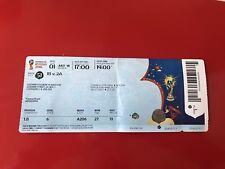 Los coleccionistas used ticket WC #51 españa SPAIN rusia Russia WM 2018