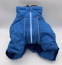 New listing Good2Go Layered Dog Snowsuit Size Small Blue Fleece Lined Nwt