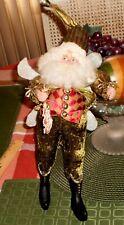"Estate Mark Roberts Santa Fairy 12"" plus hat holding Christmas Tree cookie"