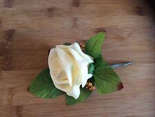 Wedding Flowers  12 Cream Rose Buttonhole's