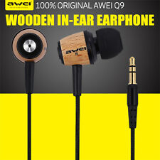 New Super Bass Wooden Headphone Stereo Headset Earphone For iPhone/iPad Samsung