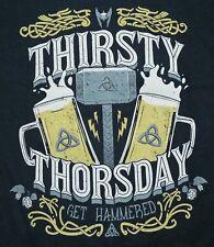 """Thirsty Thorsday"" Thor Get Hammered Beer Parody Men's Large Shirt Ript"