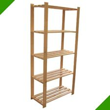 Wood Shelf Wall Shelves Warehouse Shelf Office Bookcase Kitchen 5 Bottoms New #3