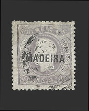 VINTAGE:MADIERA-PORTUGAL 1868 USD VLHR  SCOTT 13 $140 LOT #1868X229
