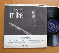 33CX 1701 ED1 Jose Iturbi Chopin Waltzes Etudes Polonaise etc Columbia B/G Mono