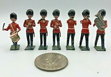 (7) Pc Vintage Britains Ltd British Band Parade Metal Lead 54mm Toy Soldiers