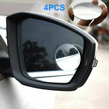 4pcs 360° Wide Angle Convex Car Blind Spot Round Stick-On Rear View Side Mirror