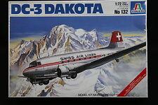 XX115 ITALERI 1/72 maquette avion 132 DC-3 Dakota swiss air lines