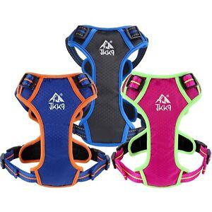 JKK9® Dog Harness Size XS Padded Adjustable & Reflective Harnesses & Top Handle