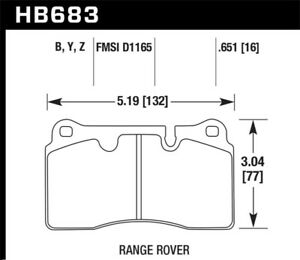 Hawk 06-09 Land Rover Range Rover/Range Rover Sport HPS 5.0 Front Brake Pads - h