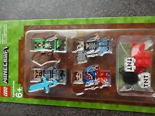 LEGO MINECRAFT HÜLLEN-SET 1 #853609 EXKLUSIV 4 MINIFIGUREN + WAFFEN NEU OVP