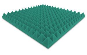 Akustikpur Color Vert / Turquois Pyramides Mousse Acoustique Mousse Pyramides