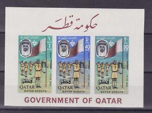 qatar 1965 michel block 9B boy scouts,s/s imperf,MNH         o15