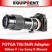 FOTGA Tilt/Shift passiver Objektivadapter Nikon F auf Sony NEX E-Mount (EQY83)