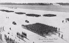 WW2 Era General Review at Keesler Field, Biloxi, Mississippi Postcard