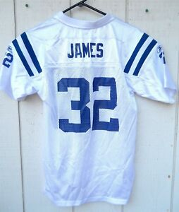 INDIANAPOLIS COLTS EDGERRIN JAMES # 32 FOOTBALL JERSEY SIZE YOUTH LARGE REEBOK