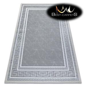 "Amazing Modern Elegant Rug ""GLOSS"" stylish, frame, greek grey Best Quality"