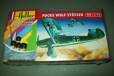 HELLER  FOCKE WULF 56 STOSSER  1:72 scale  kit   with paints and glue