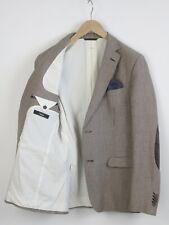 ZEGNA Men (EU) 50R or ~M Mohair Blend Leather Elbow Patch Square Blazer 23203-JS
