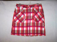 Callaway Golf Tennis Skort 6 Skirt Attached Shorts Stretch Pocket Plaid Athletic